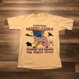 Vintage 90s Operation Desert Storm War tshirt